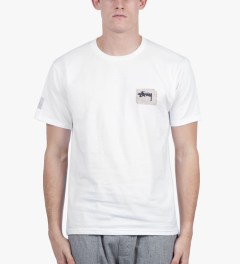 Stussy White Dot Stitch T-Shirt Model Picutre