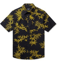 HUF Black/Gold Bamboo S/S Woven Shirt Picutre