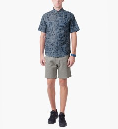 Jiberish Grey Boucle Shorts Model Picutre
