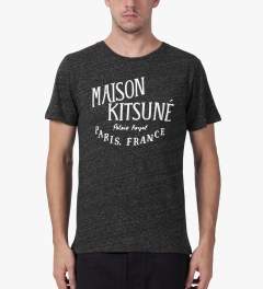 Maison Kitsune Dark Grey Palais Royal Print Crewneck T-Shirt Model Picutre