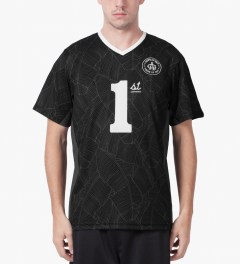 Acapulco Gold Black First Team Soccer Jersey Model Picutre