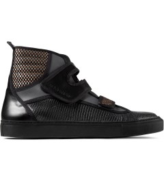 Raf Simons Black High Velcro Sneakers Picutre