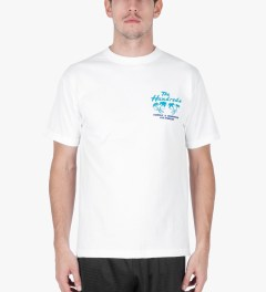 The Hundreds White Double Palm T-Shirt Model Picutre