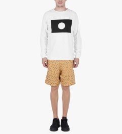 Libertine-Libertine White/Black Grill Moon Sweatshirt Model Picutre
