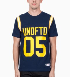 Undefeated Navy Gridiron T-Shirt Model Picutre