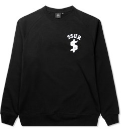 SSUR Black SSUR Down By Law Flock Print Crew Neck Picutre