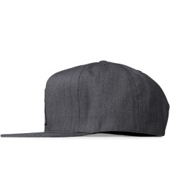 HUF Heather Grey Triple Triangle Snapback Cap Model Picutre