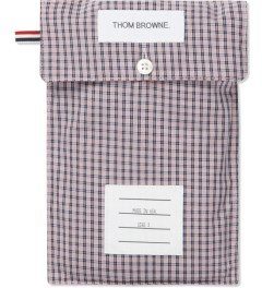 Thom Browne Navy/Red Micro Checked Poplin Boxer Model Picutre