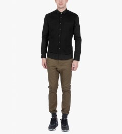 ZANEROBE Black Seven Foot L/S Shirt Model Picutre