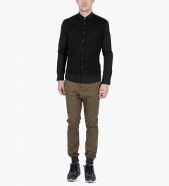 ZANEROBE Black Seven Foot L/S Shirt Model Picutre