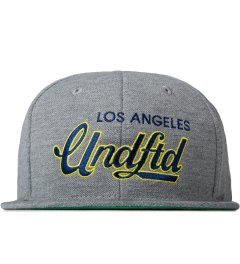 Undefeated Heather Grey Script Snapback Cap Picutre