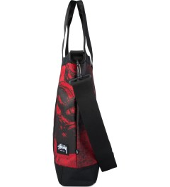 Stussy Red World Tour Tote Bag Model Picutre