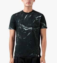 Carhartt WORK IN PROGRESS Black S/S Marble T-Shirt Model Picutre