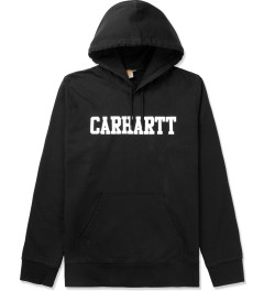 Carhartt WORK IN PROGRESS Black/White Hooded College Sweater Picutre
