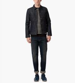 A.P.C. Indigo Veste Jean Work Jacket Model Picutre
