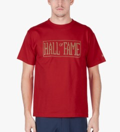 Hall of Fame Red Logo Jumbotron T-Shirt Model Picutre