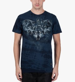 Raised by Wolves Navy Wolfpack T-Shirt Model Picutre