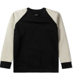 Christopher Raeburn Black/Cream Tech Raglan Sweater Picutre
