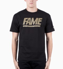 Hall of Fame Black Fame Block Jumbotron T-shirt Model Picutre