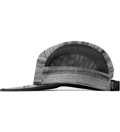 HUF Black Woodgrain Scout Volley Cap Model Picutre