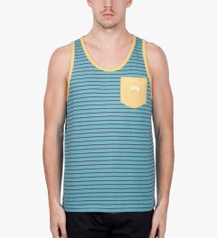 Stussy Light Blue Nicholas Tank Top Model Picutre