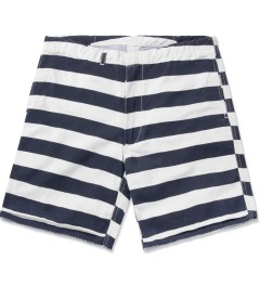 M.V.P. Navy/White 60/40 Stripe Surf Shorts Picutre