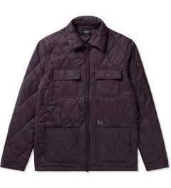 HUF Burgundy HUF Quilted Work Jacket Picutre