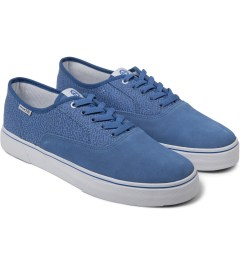 HUF Blue Memphis Suede Canvas Mateo Shoes Model Picutre