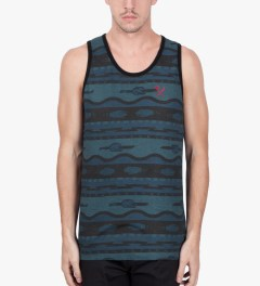 Us Versus Them Blue Electric Funeral Tank Top Model Picutre