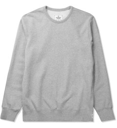 Reigning Champ Heather Grey RC-3207-1 Midweight Twill Fr Terry L/S Crewneck Sweatshirt Picutre