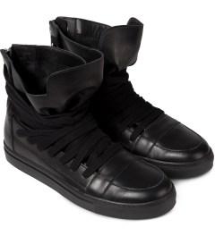 KRISVANASSCHE Black Multi Laces Sneakers Model Picutre