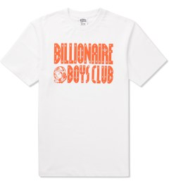 Billionaire Boys Club White/Golden Poppy S/S Straight Logo T-Shirt Picutre