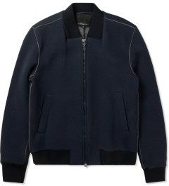 3.1 Phillip Lim Navy/Grey Front Welt Pockets Harrington Zip Up Jacket Picutre