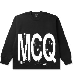 McQ by Alexander McQueen Black Oversized Crewneck Sweater Picutre