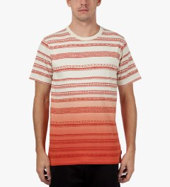 Stussy Orange Fade Tom Tom Crewneck T-Shirt Model Picutre