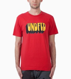 Undefeated Red Former SS T-Shirt Model Picutre