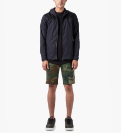 HUF Woodland Camo Twill Walk Shorts Model Picutre