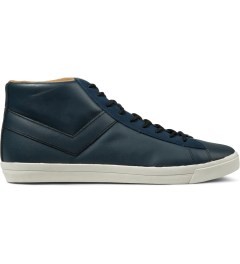 PONY Blue Topstar Hi Leather Sneakers Picutre