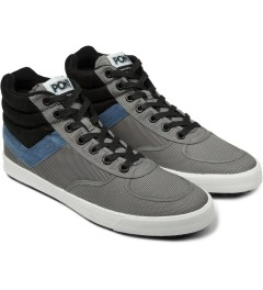 PONY Mid Grey/Blue Slamdunk VULC Hi Sneakers Model Picutre