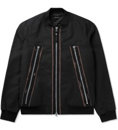 Surface to Air Black Zack Bomber Jacket Picutre