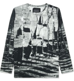Tourne de Transmission White/Black Shatter Long T-Shirt Picutre