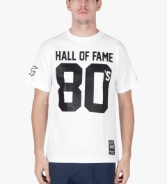 Hall of Fame White 80's T-Shirt Model Picutre