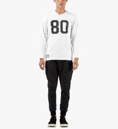 The Hundreds White Rundown L/S Shirt Model Picutre