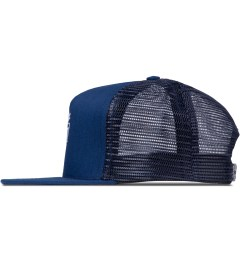 The Quiet Life Blue Heather Sharpie Trucker Cap Model Picutre