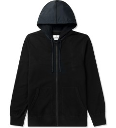 Reigning Champ Black RC-3271 Knit Lightweight Terry Zip Front Hoodie Picutre