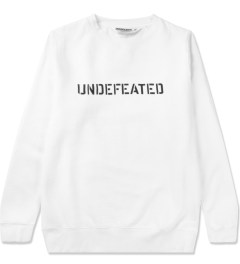 Undefeated White Basic Block Sweater Picutre