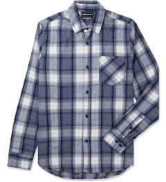 The Hundreds Blue Mash Button Up Flannel Shirt Picutre