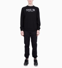 SSUR Black SSUR Lux Crew Neck Model Picutre