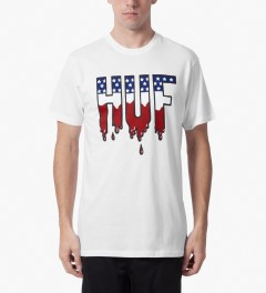 HUF White Wet American T-Shirt Model Picutre