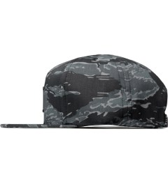 HUF Black Tiger Camo Metal H Snapback Cap Model Picutre